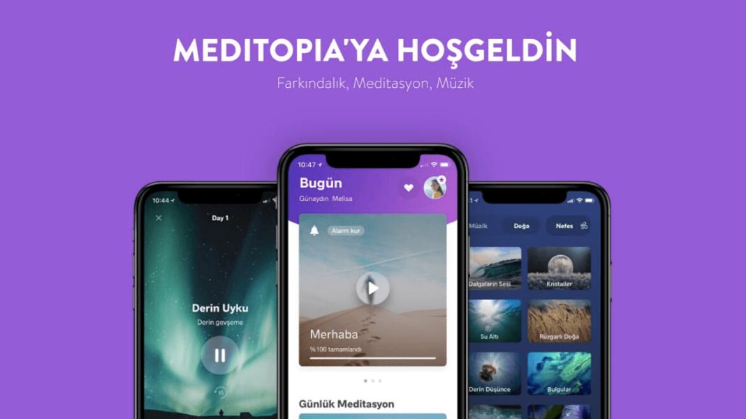 Meditopia, uygulaması 1 aylık Premium üyeliği ücretsiz olarak sunulacak.