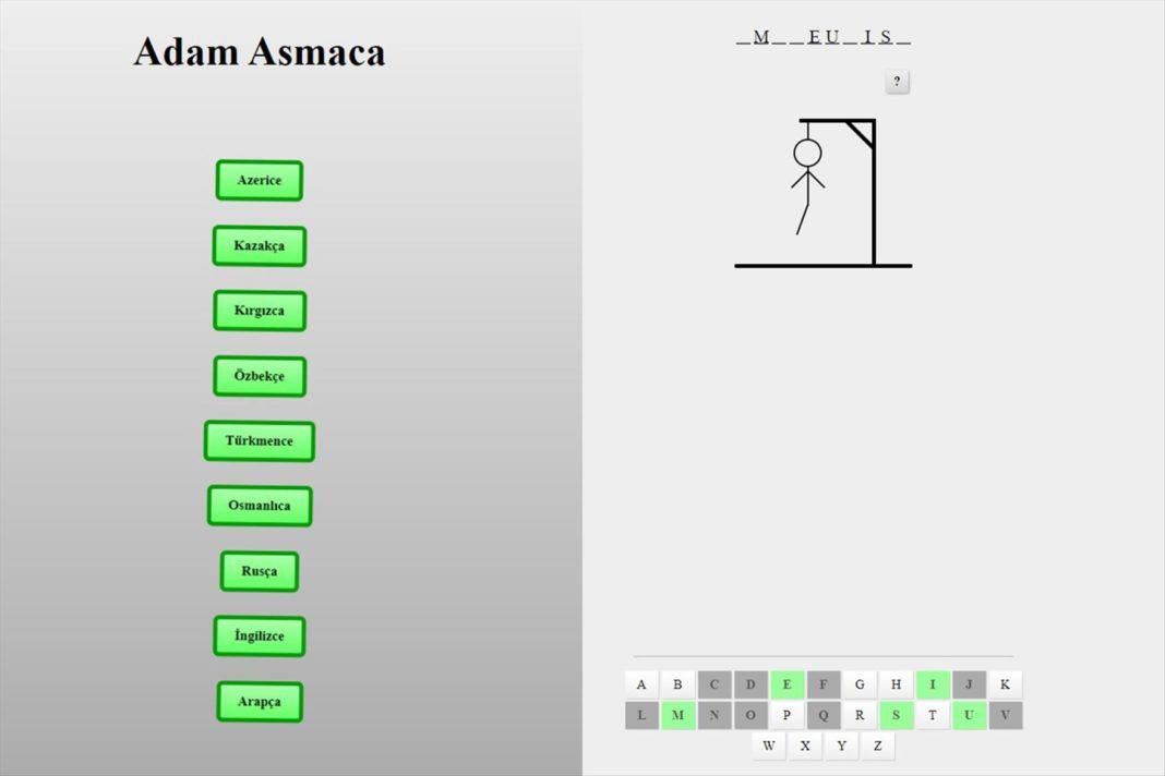 PAU CTLE'den 9 DildeCevrimici Adam Asmaca Oyunu