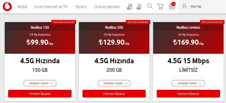Vodafone'dan Superbox'a rakip geldi: Vodafone Redbox