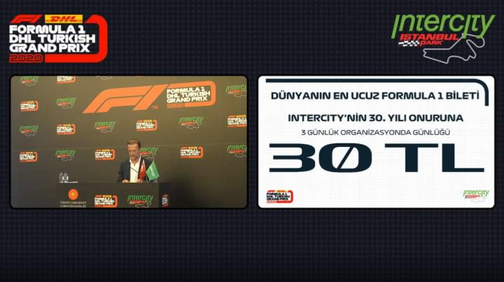 İstanbul'daki F1 yarışı seyircili olacak! Biletler 30 TL