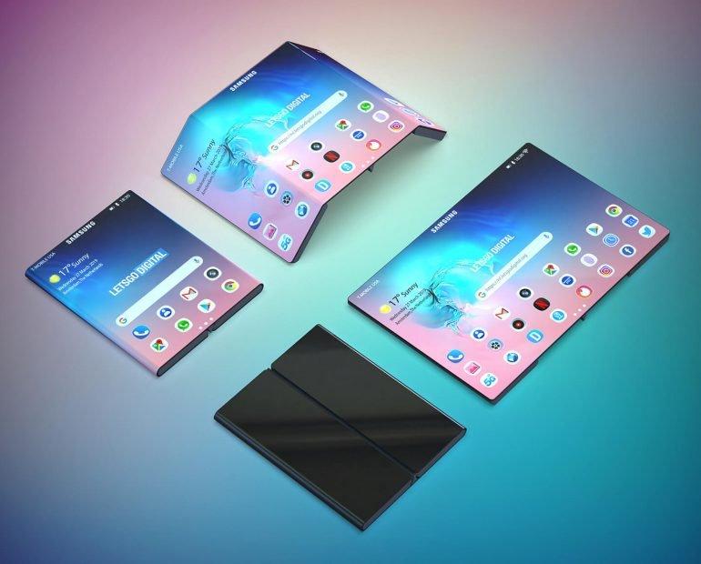 Samsung Display, İki Kez Katlanan Bir Akıllı Telefon Ekranı Geliştiriyor