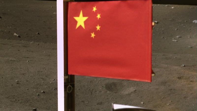 Çin'in Chang'e 5 Uzay Aracı, Ay'a Çin Bayrağı Dikti