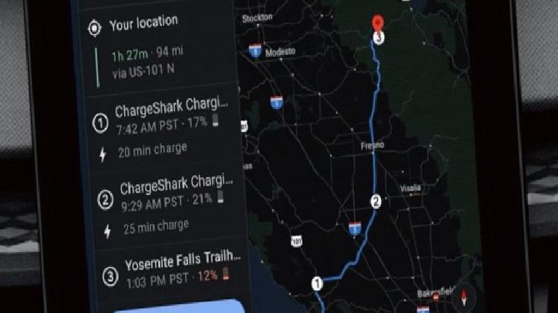 Google, Haritalar'da Elektrikli Araçlar İçin Rota Planlama Özelliğini Yayınladı