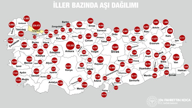 Türkiye'de Her Şehirde Kaç İnsanın Aşı Olduğunu Gösteren Harita Erişime Açıldı