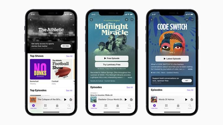 Apple, Podcasts aboneliklerinin ve kanalların lansmanını erteledi